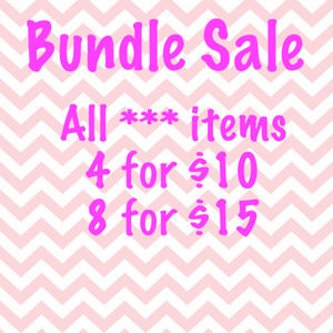4 for $10; 8 for $15 sale